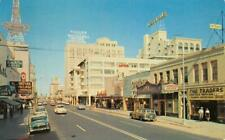 Downtown Phoenix, Arizona Central Avenue Street Scene 1957 Vintage Postcard