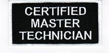CERTIFIED MASTER TECHNICIAN SEW/IRON ON PATCH EMBROIDERED MOTOCROSS MOTORCYCLE