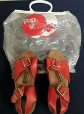 1970's Vintage Shoes Pop Wheels Roller Skates Platform Sandals Omniac Made Italy