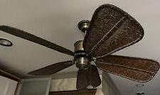 Fanimation Islander Ceiling Fan Brass Narrow Oval Antique Bamboo
