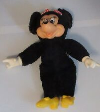 """9"""" VINTAGE DISNEY MINNIE MOUSE APPLAUSE STUFFED ANIMAL PLUSH TOY DOLL NAKED"""