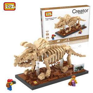 Bausteine LOZ9025 Triceratops Fossil Kinder Spielzeug Modell Bausätze OVP 660PCS