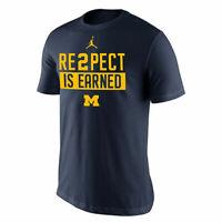 Air Jordan Nike Mens Michigan Wolverines Re2pect Jeter T-shirt Tee XL NEW