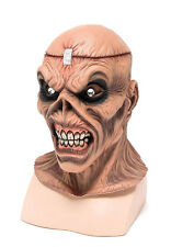 Metal Head Rubber Mask Scary Zombie Psycho Horror Skeleton Halloween Fancy Dress