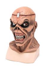 Metal Head Rubber Mask Scary Zombie Psycho Horror Skeleton Halloween Fancy Dress