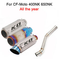 For CF-Moto 400NK 650NK Moto Exhaust Muffler Pipe Middle Link Pipe Slip On 51MM