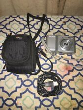 Sony Cyber-shot Dsc-S2100 12.1 Mp Digital Camera Silver Bag & Usb Cable