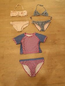 Mädchen Bikini-Paket Gr. 134 140, Badeanzüge, Badebekleidung, UV-Schutzkleidung