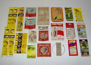 VINTAGE MIXED TACKLE LOT ~ ALL ITEMS NEW IN PACKAGE >> NEW VINTAGE STUFF!