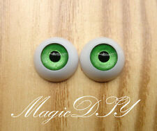 12mm Hand Made BJD Doll Eyes Pearlized Green Acrylic Half Ball