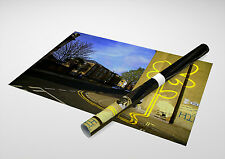 "Banksy - Yellow Lines Flower Archival Canvas Print 30""x20"""