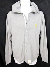 New FIVE FOUR-MARK McNAIRY Button-Front Shirt/Hoodie Gray Size Medium