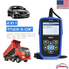 Universal Car & Heavy Duty Diesel Truck Diagnostic Scanner OBDII HD Code Reader