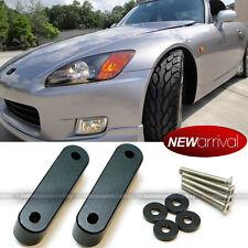 """For Honda Acura 3/4"""" Aluminum Hood Vent Raiser Lift Tilt Spacer Kit (Black)"""