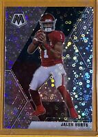 2020 Panini Mosaic Jalen Hurts Silver Disco Prizm RC No Huddle  SSP Variation
