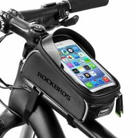 RockBros Bike 6.0 Inch Touch Screen Water Resistant Front Tube Cycling Bag Black