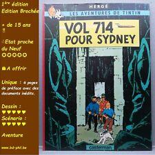 Tintin,21, Vol 714 pour Sydney, Hergé, Casterman, EO Brochée, 2000, EN, préfacé