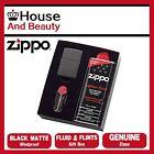 NEW Zippo 218 Black Matte Lighter with 118ml Fluids & Flints Gift Boxed 90218GP