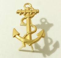 ANCRE pour Macaron de Casquette Troupes des Marine Nationale Française TDM T.D.M