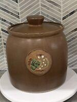 Vintage Rare HTF Otagiri  Owl Cookie Jar Canister Hand Painted Japan