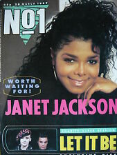 NO 1 (NUMBER ONE) MAGAZINE 28/3/87 - JANET JACKSON - RIVER PHOENIX - BOY GEORGE