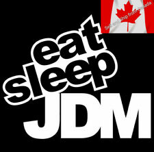 15*12CM EAT SLEEP JDM Funny Humor Car Sticker Decal Motorcycle Silver Reflective