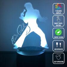 Rock Music Elvis 3D Acrylic LED 7 Colour Night Light Touch Table Desk Lamp Gift