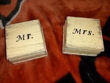 Handmade Beachy Ring Box Set Of 2 Mr And Mrs