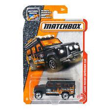2016 Matchbox - Land Rover Defender 110 Black MBX Heroic Rescue Die Cast