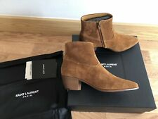 YSL Saint Laurent Women's Western Suede Ankle Boots Sz 36.5 UK 3.5  RRP £710 NEW