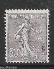 France 1902 30c lilac Sower with ground, Mint once hinged, superb example SG 318