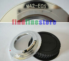 new brass EMF AF Confirm M42 lens to Canon EOS adapter 7D II 5D III 650D + CAP