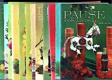 """12 Magazine COKE 1963-69 """"PAUSE FOR LIVING"""" Holiday Decoration Unmailed  $4s&hUS"""