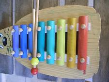 Xylophone en bois&métal forme chat