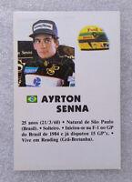 RARE Vintage F1 Rookie ✱ AYRTON SENNA & LOTUS ✱ Collection Calendar 1985