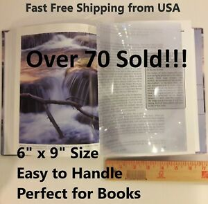 MAGNIFYING SHEET 6x9 Fresnel Lens 3X Magnification Reading Aid FREE SHIPPING USA