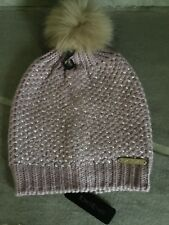 81b4455c9de BEBE WOMENS PINK RHINESTONE HONEYCOMB BEANIE BRAND NEW WITH TAGS