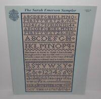 Vtg New Gloria & Pat SARAH EMERSON SAMPLER XS Stitch Chart Leaflet #29 OOP