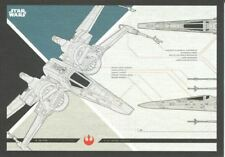 Star Wars Journey To The Last Jedi Blueprints Chase Card #6 X-Wing