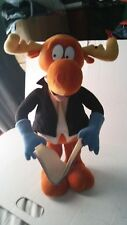 """Bullwinkle Moose Plush Toy """"poems by mr. Know-it-all"""" 1999, 19"""" tall, VGC, {002"""