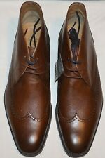 MENS M&S COLLECTION LEATHER LACE-UP BROGUE CHUKKA BOOTS SIZE 9 TAN T336933 BNWT