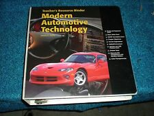 Modern Automotive Technology Instructors Resource Binder 2000