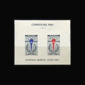 Peru, Sc #C173a, MNH, 1961, S/S, Olympics, Rome, SAI-B