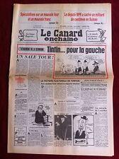 Le Canard Enchainé 9/3/1983; Le député RPR à caché un Milliard de centime en Su