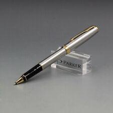 Perfect Parker Sonnet Series Steel Color Gold Clip 0.5mm Fine Nib Rollerball Pen