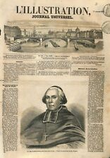Portrait de Mgr Cardinal Morlot archevêque de Tours et Paris  ILLUSTRATION 1857