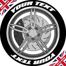 Custom Design Set Of 8 Tyre Stickers / Permanent / 3D / Tyre Lettering