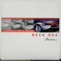 2004 Avanti SVO Beck 904 Dealer Sales Brochure Folder Original Rare