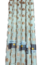 Spritz Cotton Recycled Handmade Paper Gift Wrap Green & Gold  polka dots pk of 6