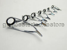 Set of 7 rod guides. High Quality Silicon Carbide (SiC) ring as  LCNG silver